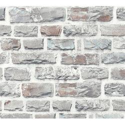 living walls Vliestapete Neue Bude 2.0, Steinoptik, Naturstein grau