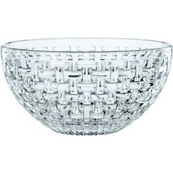 Nachtmann Salatschüssel Bossa Nova, Kristallglas, (4-tlg), (2x Schüssel, 2x Silikondeckel)