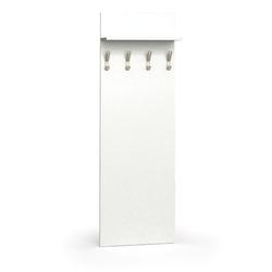 Holzwand mit haken, 4 kleiderhaken, regal, weiß