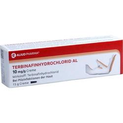 TERBINAFINHYDROCHLORID AL 10 mg/g Creme 15 g