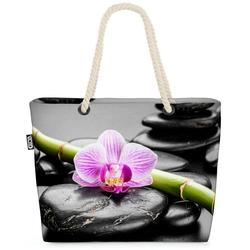 VOID Strandtasche (1-tlg), Zen Steine Orchideen Spa Zen Steine Orchideen Spa Wellness Orchideen