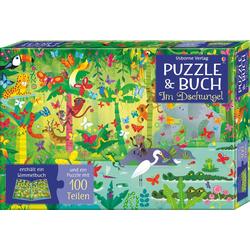 Puzzle und Buch: Im Dschungel