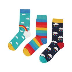 frugi Socken Kinder Socken, 3er-Pack, Organic Cotton 23-26