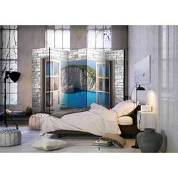 Spanische Trennwand mit Blick auf eine Bucht 225 cm breit