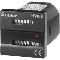 Kübler HW66M 230 VAC Wechselstromzähler mechanisch 16A MID-konform: Ja 1St.