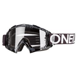 O'Neal Crossbrille B-10 Pixel Schwarz/Weiß - Klar Anti-Fog