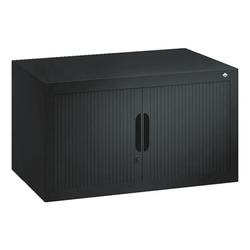 Aufsatzschrank »Omnispace« mit Rollladen 80 x 45 cm schwarz, CP, 80x42 cm