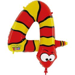 Karaloon Folienballon Ballon Zahl 9 Gecko gelb