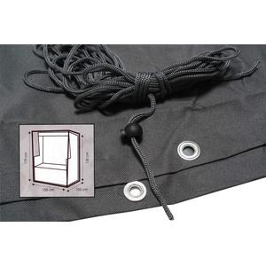 Strandkorb Schutzhülle KYNAST Komfort grau 155cm Schutzhaube