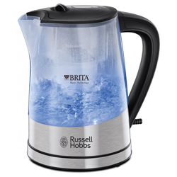 RUSSELL HOBBS Wasserkocher - Glass Wasserkocher - Edelstahl-Glas, 2200 W