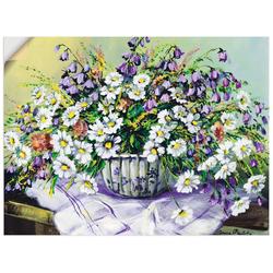 Artland Wandbild Bunter Tisch II, Blumen (1 Stück) 80 cm x 60 cm