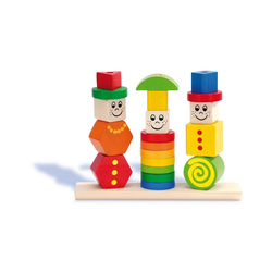 Eichhorn Steckpuzzle Figuren-Steckpuzzle, 20-tlg., Puzzleteile