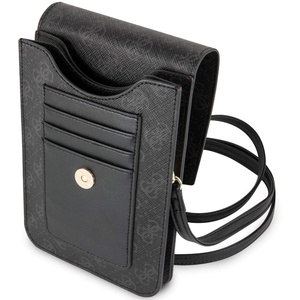 Guess - 4G Wallet Bag for Phone with Tassel - Black