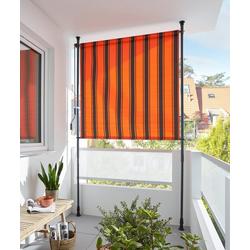 KONIFERA Senkrechtmarkise Klemmarkise BxH: 150x225 cm, mit Teleskop-Funktion orange