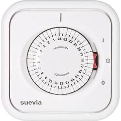 Suevia 348.002 Unterputz-Zeitschaltuhr analog Tagesprogramm 2200W IP20