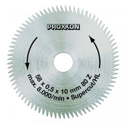 PROXXON 28014 Kreissägeblatt / Sägeblatt SuperCut (80 Zähne) Ø58mm