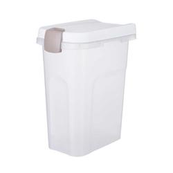 Trixie Futtertonne transparent-weiß/weiß, Maße: 27 x 61 x 45 cm