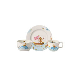 Villeroy & Boch Kindergeschirr-Set HAPPY AS A BEAR Kindergeschirrset 3-tlg (3-tlg), Porzellan