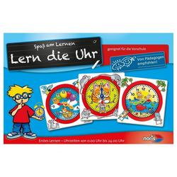 Noris Puzzle Lern die Uhr ab 5 Jahren, 32 Puzzleteile bunt