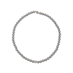 leslii Perlen-Collier grau