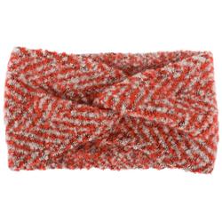 styleBREAKER Stirnband Web Stirnband mit Zacken Muster und Twist Knoten Web Stirnband mit Zacken Muster und Twist Knoten rot