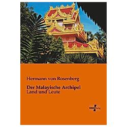 Der Malayische Archipel. Hermann von Rosenberg  - Buch