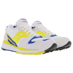 Saucony Saucony Azura ST Sneaker belastbare Herren Low Top Sportschuhe mit XT600 Laufschuhe Weiß/Gelb/Blau Sneaker 42