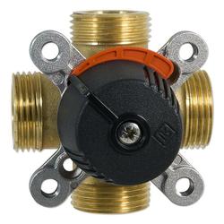 4-Wege-Messing-Mischer LK 841 ThermoMix für Heizung - DN20 - 4 x 3/4'' AG - Kvs-Wert 2,5