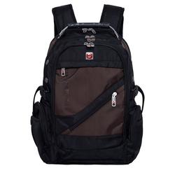 PYATO Laptoprucksack, mit schräger Fronttasche braun