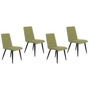 HTI-Line Esszimmerstuhl Stuhl Denver 4er Set (4 Stück) grün