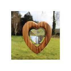 mitienda Fensterdekoration Fensterdeko Herz mit Bleikristall, groß