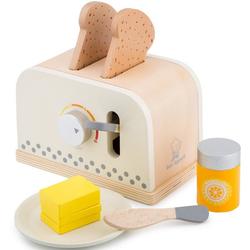 New Classic Toys® Kinder-Toaster Bon Appetit - Toaster mit Zubehör, Creme
