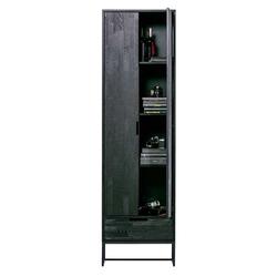 Holzschrank in Schwarz 210 cm hoch