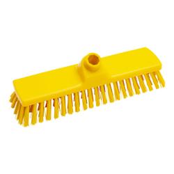 Haug Besen, 330 x 70 mm, mittel, Hygienebesen mit Polyesterbesatz, Farbe: gelb