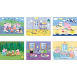SIMBA Würfelpuzzle Peppa Pig Würfelpuzzle, 12 Teile, Puzzleteile