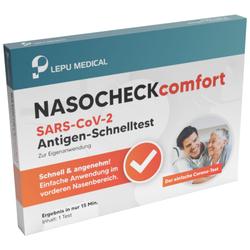 5er Pack Antigen-Schnelltest LEPU Nasocheck comfort SARS-CoV-2 Antigen mit La...