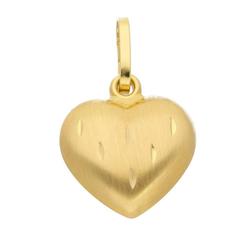 Adelia´s Kettenanhänger 333 Gold Anhänger Herz, Goldschmuck für Damen