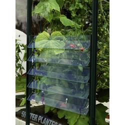 Vitavia Lamellen-Wandfenster für Gewächshäuser,grün,61 x 45 cm