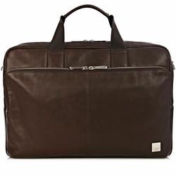 Knomo Brompton Amesbury Aktentasche Leder 41 cm brown