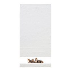 framsohn Duschtuch ''Katzen'' 75 x 150 cm Weiß