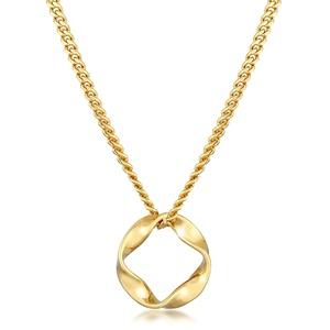 Halskette Kreis Design Twisted Gedreht 585 Gelbgold Elli Premium Gold - 001