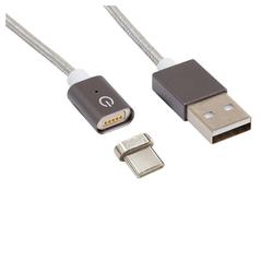 Realpower Magnetic tablet C - Magnetisches USB-C Sync- und Ladekabel USB-Kabel, kleiner USB-C Adapter Stecker bleibt im Gerät, Kabel wird magnetisch angedockt, Magnet-Stecker, 1m USB-C Kabel mit LED