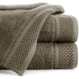 Eurofirany Carlo Badehandtuch Set Handtuch Saunahandtuch Muster – Saugstark, 100% Baumwolle 580g/m2, Hochqualitativ, 3er und 6er Pack, Braun, 70X140cm, 3