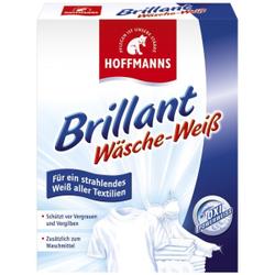 Hoffmanns Brilliant Wäsche-Weiss, Waschpulver für strahlend weiße Wäsche , 500 g - Packung