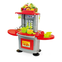 Mochtoys Spielküche Kinderküche 10151 Kunststoff, 26 Teile, Backofen zum Öffnen und Tresen