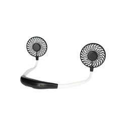 ONVAYA Umhängeventilator Nackenventilator schwarz und weiß, Tragbarer Mini Ventilator zum Umhängen für unterwegs, USB Ventilator