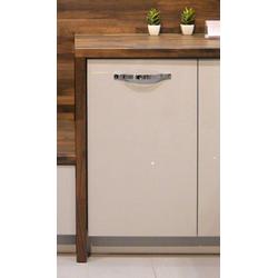 Feldmann-Wohnen Unterschrank ESSEN (Küchenunterschrank, Küchenschrank) ES-D1D/45 - Korpus- und Frontfarbe wählbar grau