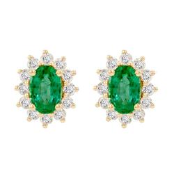 Goldene Smaragdohrringe mit Diamanten Mariell