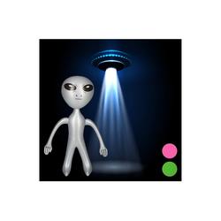 relaxdays Aufblasbares Partyzubehör Alien aufblasbar silberfarben