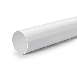 R-125 Rundrohr, Lüftungsrohr, weiß